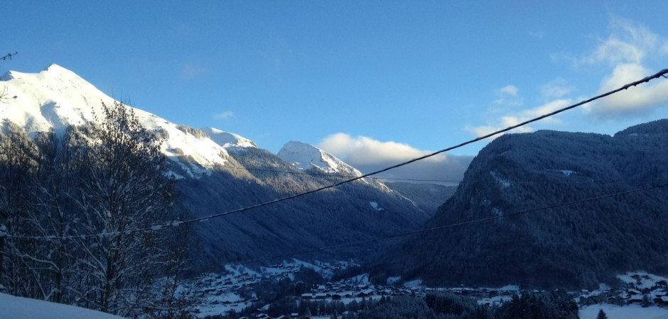 Morzine view from chalet of town